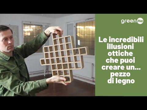 Le incredibili illusioni ottiche che puoi creare un...pezzo di legno
