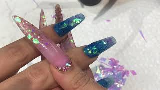 Nail tutorial watch me do nails with my LONG nails lovelymimi Crazy speed