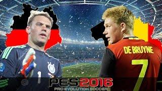 PES EURO 2016 - Deutschland vs Belgien - HALBFINALE