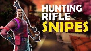 HUNTING RIFLE SNIPE MONTAGE | 24 KILL SOLO VS SQUAD - (Fortnite Battle Royale)