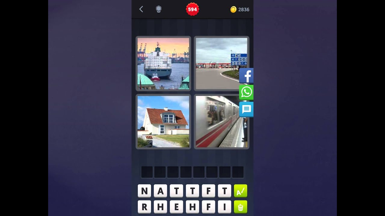 4 Bilder 1 Wort Lösung [schiff, Straße, Haus, Zug]   Youtube