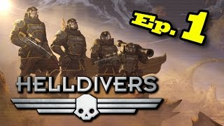Helldivers Gameplay - Best Co-op Console Game? YES!
