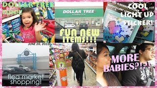 DOLLAR TREE SHOPPING FUNN!!! NO MORE BABIES FOR US!! | JUNE 28, 2015 VLOG #10