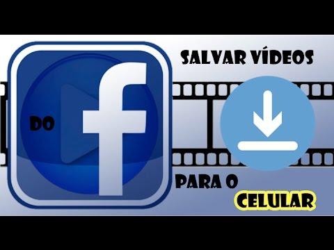 Como salvar vídeos do facebook para o CELULAR (sem programas) 2017