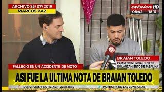 La última nota de Braian Toledo en Crónica HD