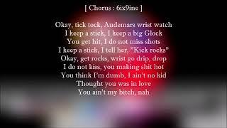 6ix9ine - TIC TOC (Lyrics) Feat. Lil Baby