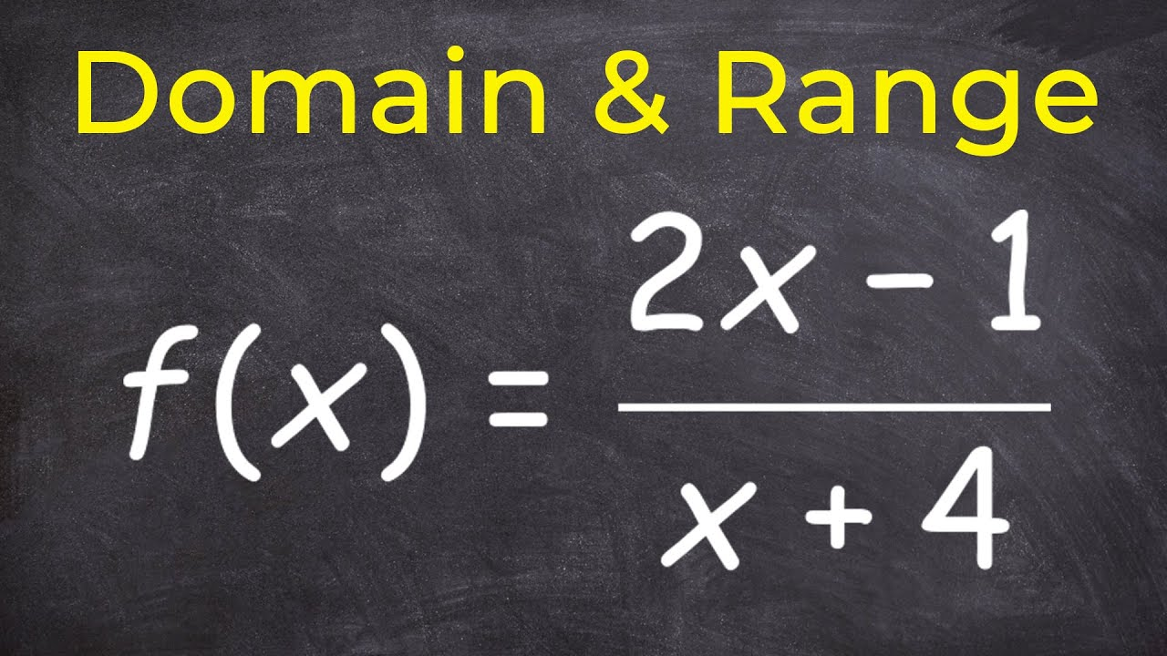 how to get domain and range