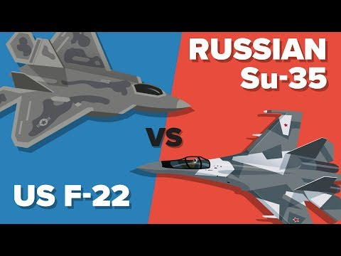 US F-22 Raptor vs Russian Su-35 Fighter Jet - Which Would Win? Military Unit Comparison