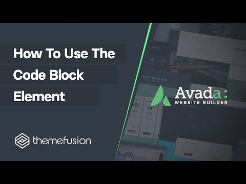 How To Use The Code Block Element Video