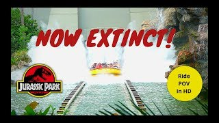 Jurassic Park Ride POV: Universal Studios Hollywood (NOW EXTINCT!)
