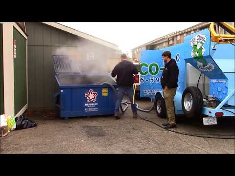 Eco 190 Degrees Dumpster & Trash Bin Cleaning Services www HydroChemSystems com
