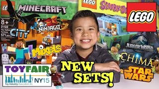 NEW 2015 LEGO SETS!!! NY Toy Fair - Minecraft, Scooby Doo, Chima, Ninjago, Star Wars, Jurassic World