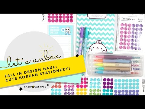 Let's Unbox: Fall In Design - Cute Korean Stationery Haul!