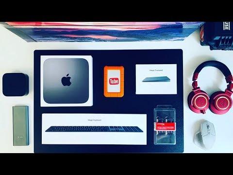 Распаковка Mac Mini 2018⌨️Комплект аксессуаров🖥Монитор🔋ИБП
