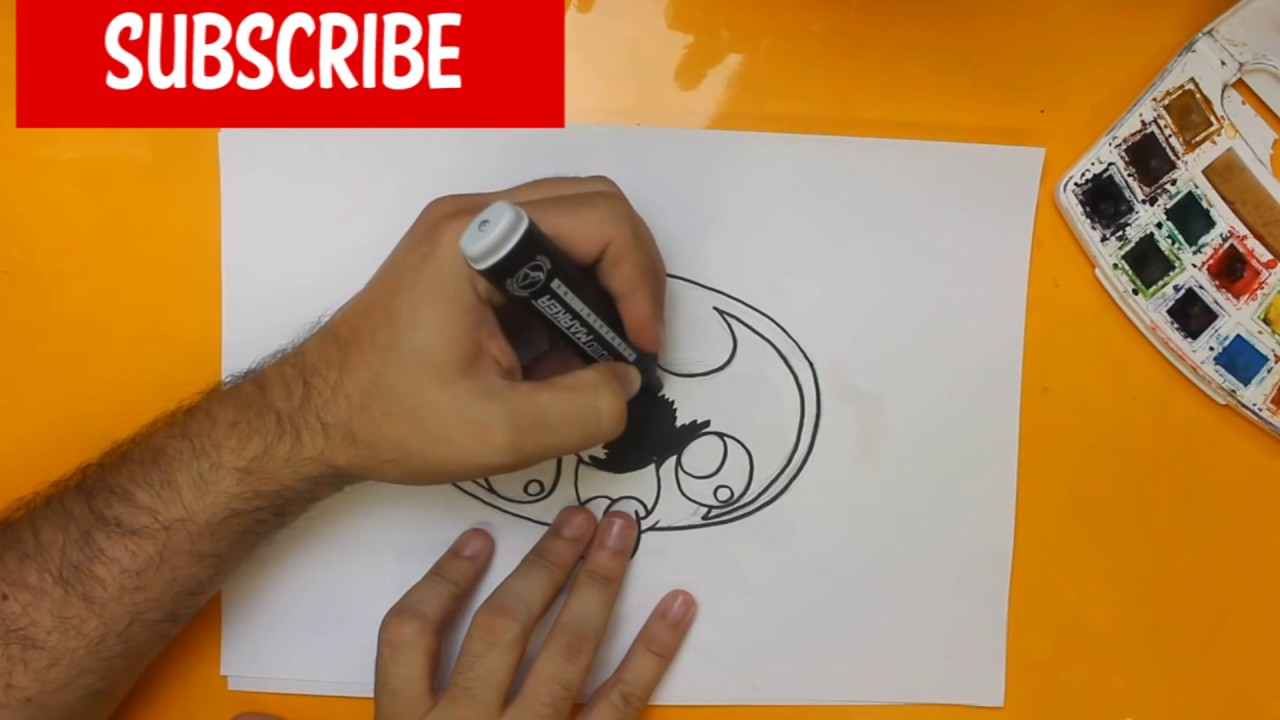 batman logo how to draw step by step