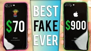 Video $70 Fake iPhone 7 Plus vs $900 iPhone 7 Plus in Jet Black! download MP3, 3GP, MP4, WEBM, AVI, FLV Agustus 2017
