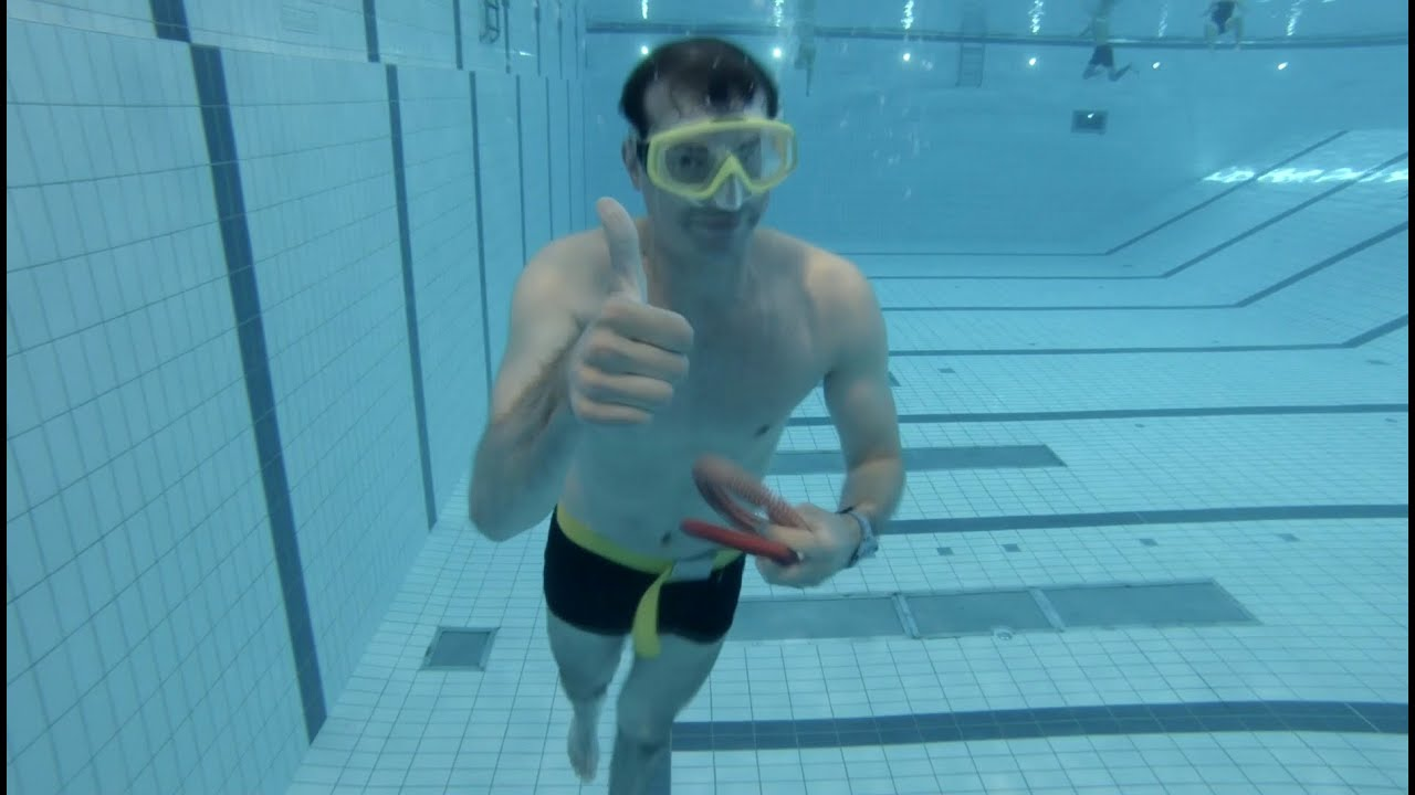 how to do a 50 meter underwater swim olympic pool dynamic apnea