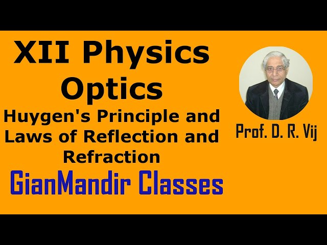 XII Physics | Optics | Huygen's Principle and Laws of Reflection and Refraction by Poonam Ma'am