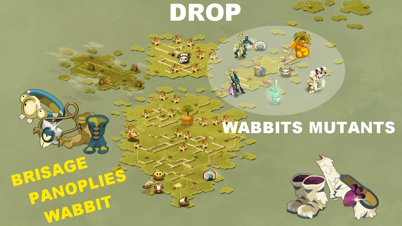 Drop Brisage Les Wabbits Mutants Cawotman Co Dofus