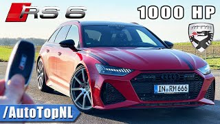 1000HP AUDI RS6 C8 MTM *354KMH* REVIEW on AUTOBAHN [NO SPEED LIMIT] by AutoTopNL