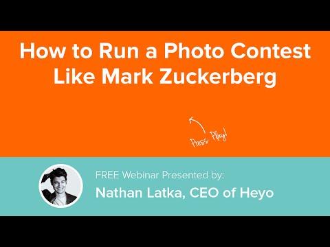 How to Run a Photo Contest Like Mark Zuckerburg