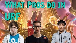 What Pros do in URF - Funny Urf 2016 moments