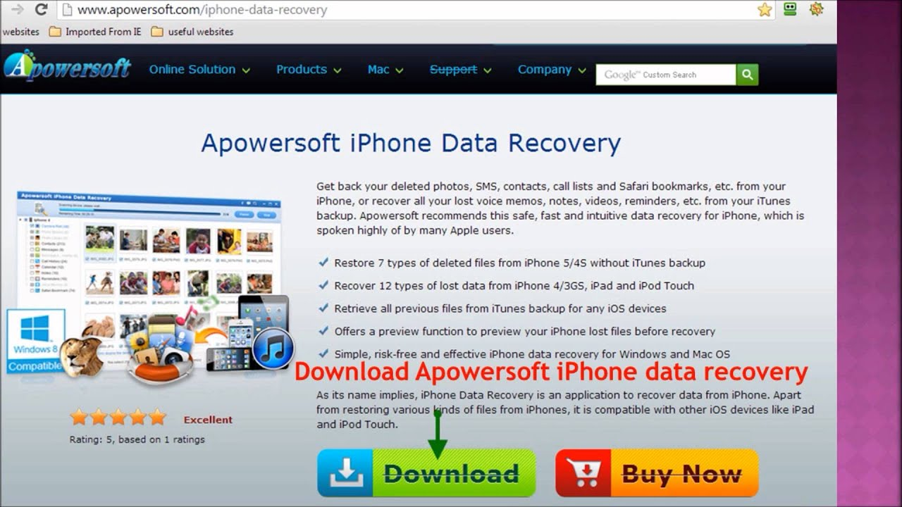 APOWERSOFT RECUPERATION DE DONNEES IPHONE