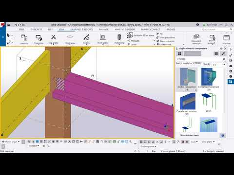 Tekla Structures Custom Components - Connection for Precasters