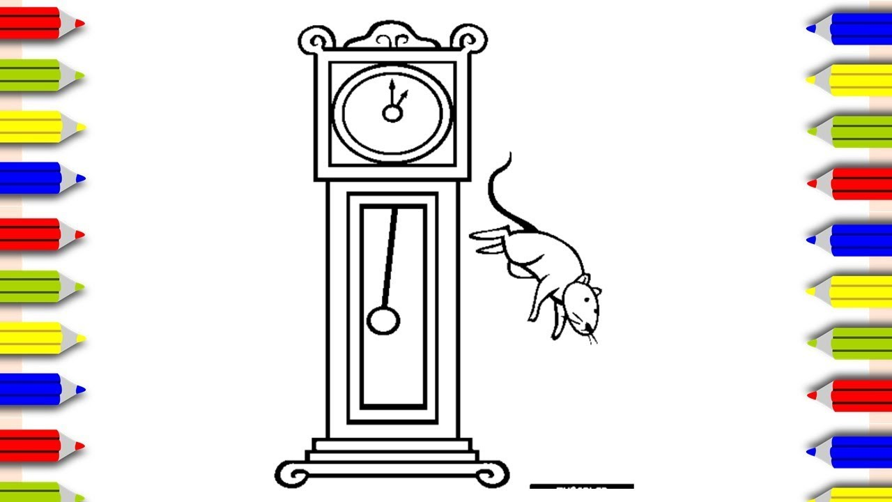 Coloring Hickory Dickory Dock Coloring Pages For Kids Cocuklar
