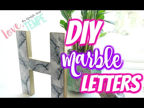 DIY: Painted Marble Letters
