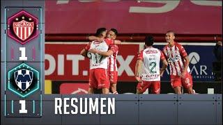 Necaxa 1-1 Rayados de Monterrey | Resumen | Jornada 7 | Liga BBVA MX