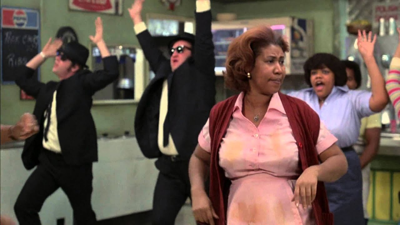 "Aretha Franklin ""Think"" in The Blues Brothers"
