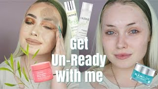 Get Un-Ready With Me & Skin Care Routine
