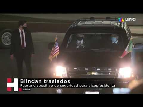 Despliegan operativo de seguridad por visita de Kamala Harris a México