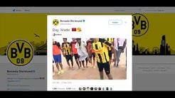 Borussia Dortmund Official share  on  Twitter a video of moroccan fans dance