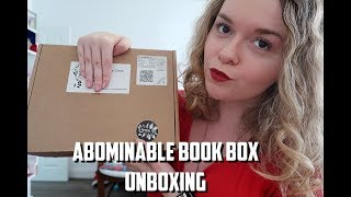 ABOMINABLE BOOK CLUB UNBOXING | OCTOBER