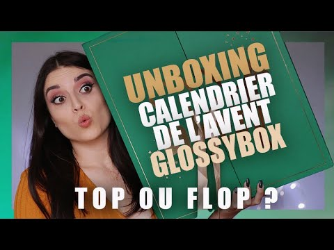unboxing calendrier de l 39 avent glossybox 2017 spoilers youtube