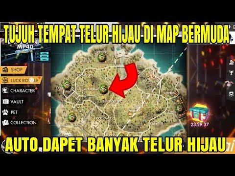 7 TEMPAT TELUR HIJAU DI MAP BERMUDA DI FREE FIRE INDONESIA