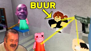 Roblox Funny Moments VS BUUR (PIGGY , Murder Mystery 2 , Tower of Hell)