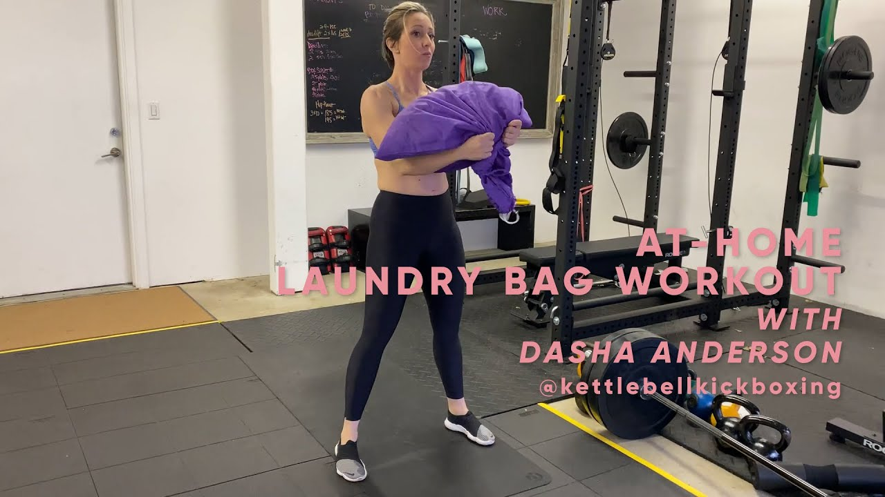 At-Home Laundry Bag Workout with Dasha Libin | At-Home Workouts | SHAPE