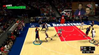 NBA 2K13 Gameplay: Dream Team vs. 2012 Olympic Team | From 2K Livestream #NBA2K13