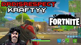 DR DISRESPECT and TSM KRAFTYY play duo FORTNITE and get 3 WINS in a row (4/13/2018)