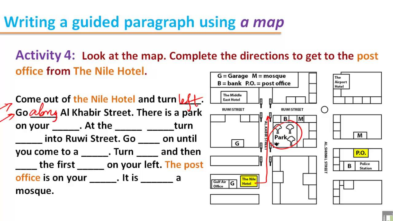 WRITING (112 ) - B2 - U5 : Giving Directions (4) - YouTube