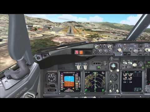 [FSX] PMDG Landing at Toncontín (MHTG), Tegucigalpa, Honduras [HD]
