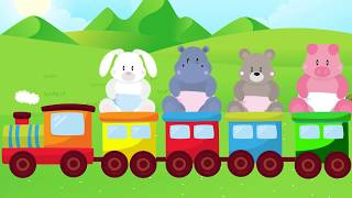 Wrong heads learn color animal Piglet - Finger family song