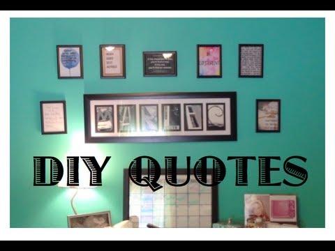 DIY framed quotes