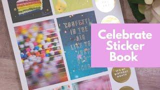 Celebrate Stickers Book Flip Through   Krystal Klear Ideas