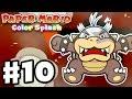 Paper Mario: Color Splash - Gameplay Walkthrough Part 10 - The Crimson Tower 100%! (Nintendo Wii U)