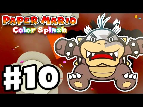 Paper Mario: Color Splash - Gameplay Walkthrough Part 10 - The Crimson Tower 100%! (Nintendo Wii U)