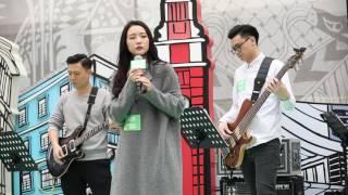 HANA菊梓喬 - 我好想你(cover) @Joox Music in the City 20161203